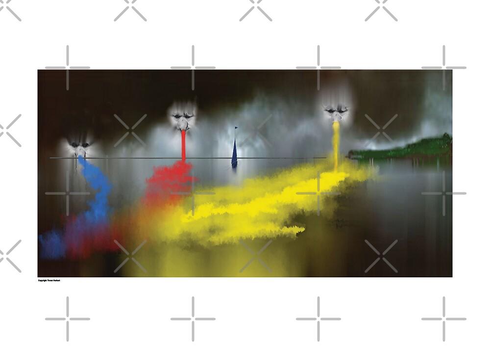 tree men in the sky  by Trevor  Herbert