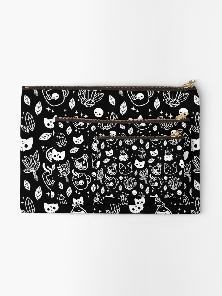 Alternate view of Herb Witch // Black & White Zipper Pouch