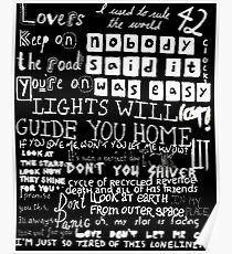 Lyrics Coldplay Poster