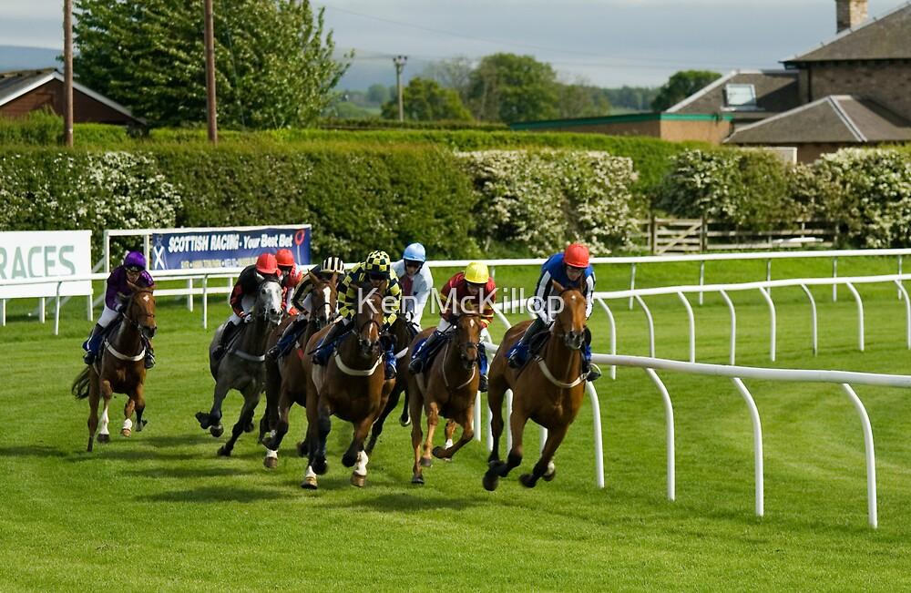 Racing at Kelso, Scotlands friendliest racecourse.... by Ken McKillop