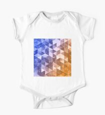 Abstract geometric Background X One Piece - Short Sleeve