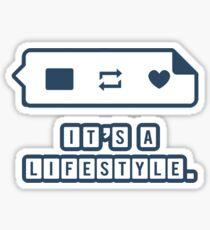It's a Lifestyle (Dark Outline) Sticker