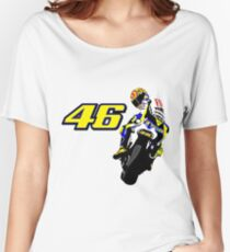 Drawn motorbike with Valentino Rossi Women's Relaxed Fit T-Shirt