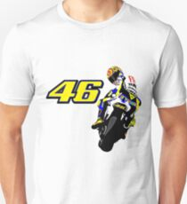 Drawn motorbike with Valentino Rossi T-Shirt