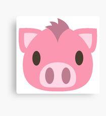 Cartoon Piggy Face Canvas Print