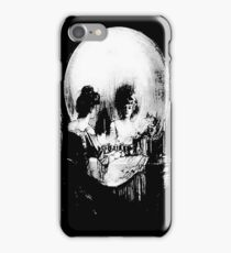 Woman with Halloween Skull Reflection In Mirror iPhone Case/Skin