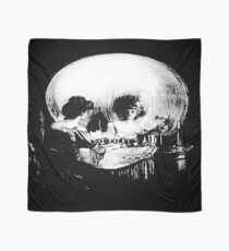 Woman with Halloween Skull Reflection In Mirror Scarf