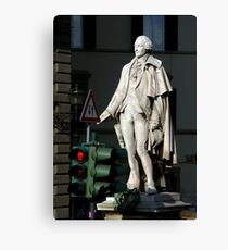 Waiting for crossing Canvas Print