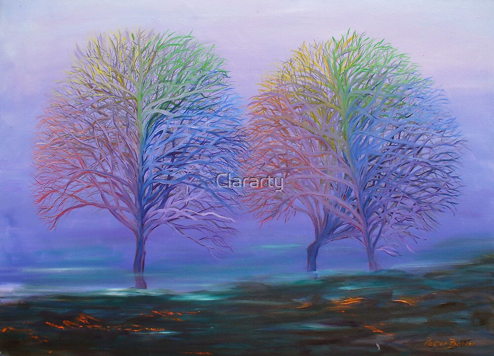 Rainbow Trees by Clararty