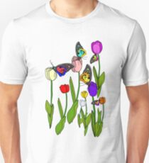 Tulips and Butterflies Unisex T-Shirt