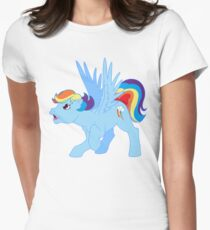my little pony g1 rainbow dash Womens Fitted T-Shirt