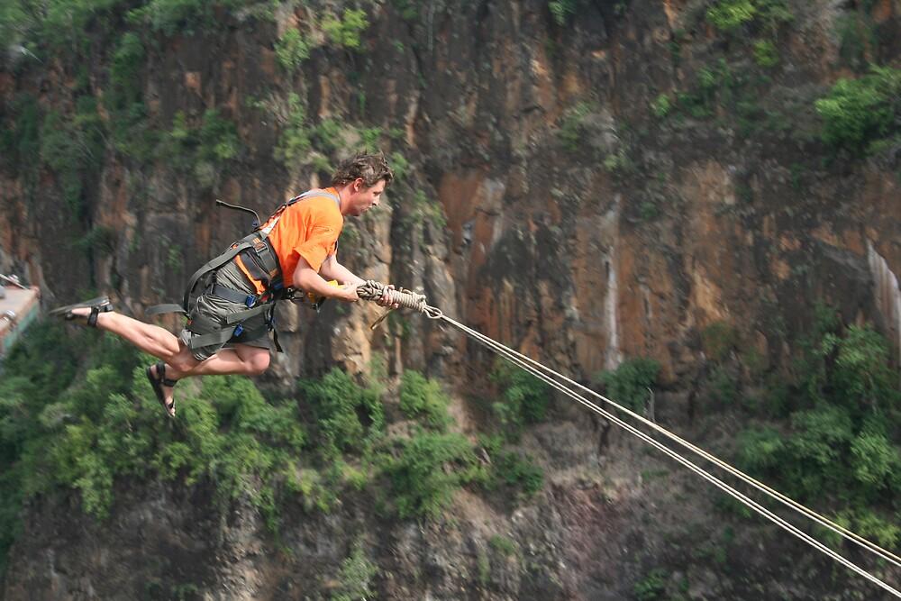 Jumping off a Zimbabwe cliff by lordploppy
