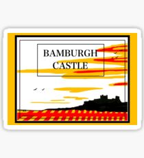 Bamburgh Castle, Northumberland Flag Sticker