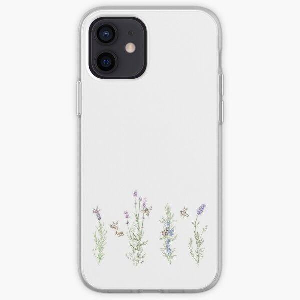 Lavender and Bees iPhone Soft Case