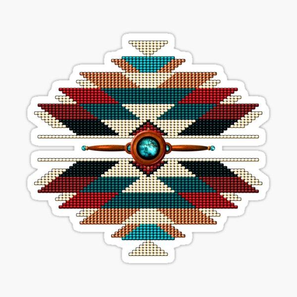 Southwest Native American Sunburst Sticker