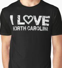 I Love Heart North Carolina United States America T Shirt Graphic T-Shirt