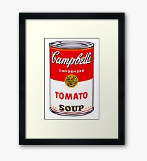 Campbell's Tomato Soup Can - Andy Warhol Framed Print