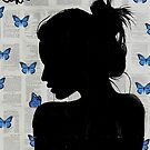 papillion bleu  by Loui  Jover
