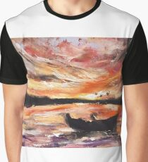 River Sunrise Graphic T-Shirt