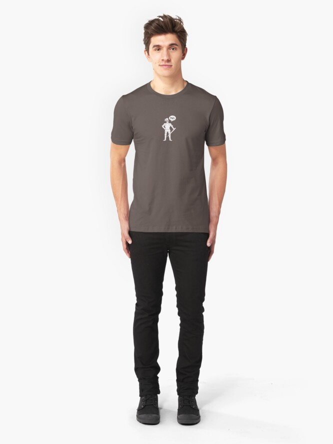 Alternate view of The Knights Who Say Ni Slim Fit T-Shirt