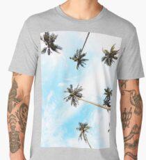 Landscape, Palms, Tropical print, Palm trees sunset Men's Premium T-Shirt