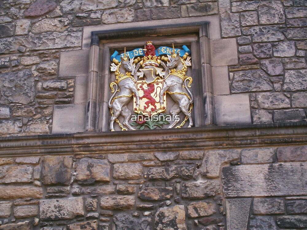 Coat of Arms - Crest, Edinburgh Castle by anaisnais