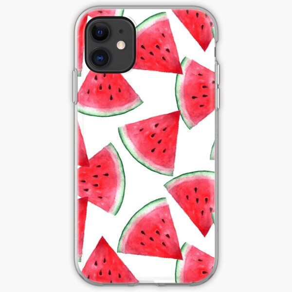 Saftige Wassermelone. Aquarell tropische Frucht iPhone Flexible Hülle