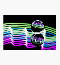 Light through the Crystal Ball Photographic Print