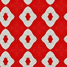 Kaleidoscope in red & white by TeAnne