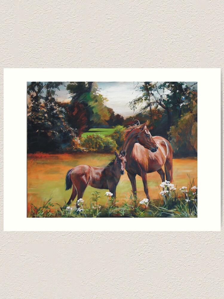Alternate view of Mum & Foal Art Print
