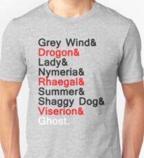 Direwolves & Dragons Unisex T-Shirt