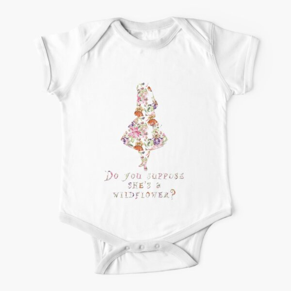 Do you suppose she's a wildflower? Short Sleeve Baby One-Piece