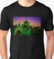 Myanmar. Mandalay. Bo Bo Gyi Nat Shrine. Sunset. Unisex T-Shirt