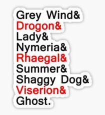 DIREWOLVES & DRAGONS Sticker