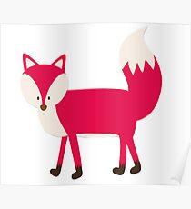 Fox Cartoon Poster
