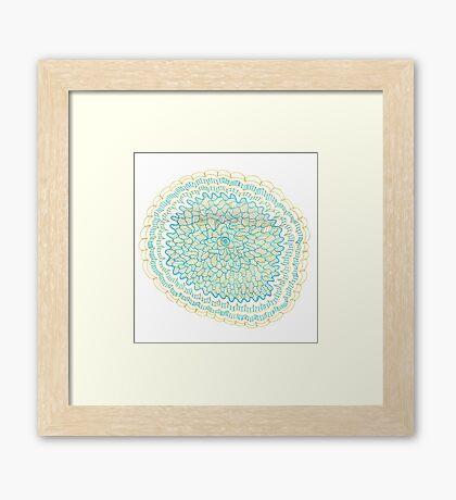 Gold & Azure Mandala Framed Print