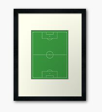Soccer Pitch, Football Pitch, Soccer Field, Football Field, Football, Soccer, PORTRAIT Framed Print