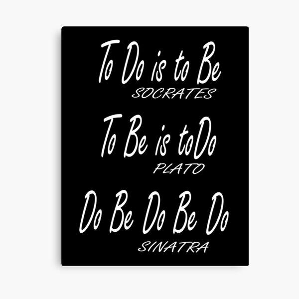 Do be Do be Do, Greek version, MUSIC, Frank Sinatra Lyrics, on BLACK. Canvas Print