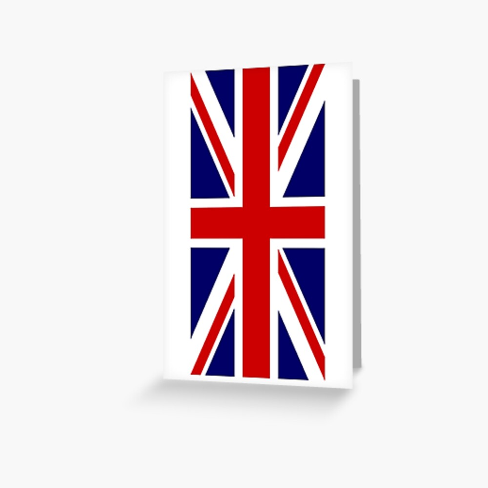 British, Union Jack, PORTRAIT, Flag, 1;2, UK, GB, United Kingdom, Pure & simple  Grußkarte