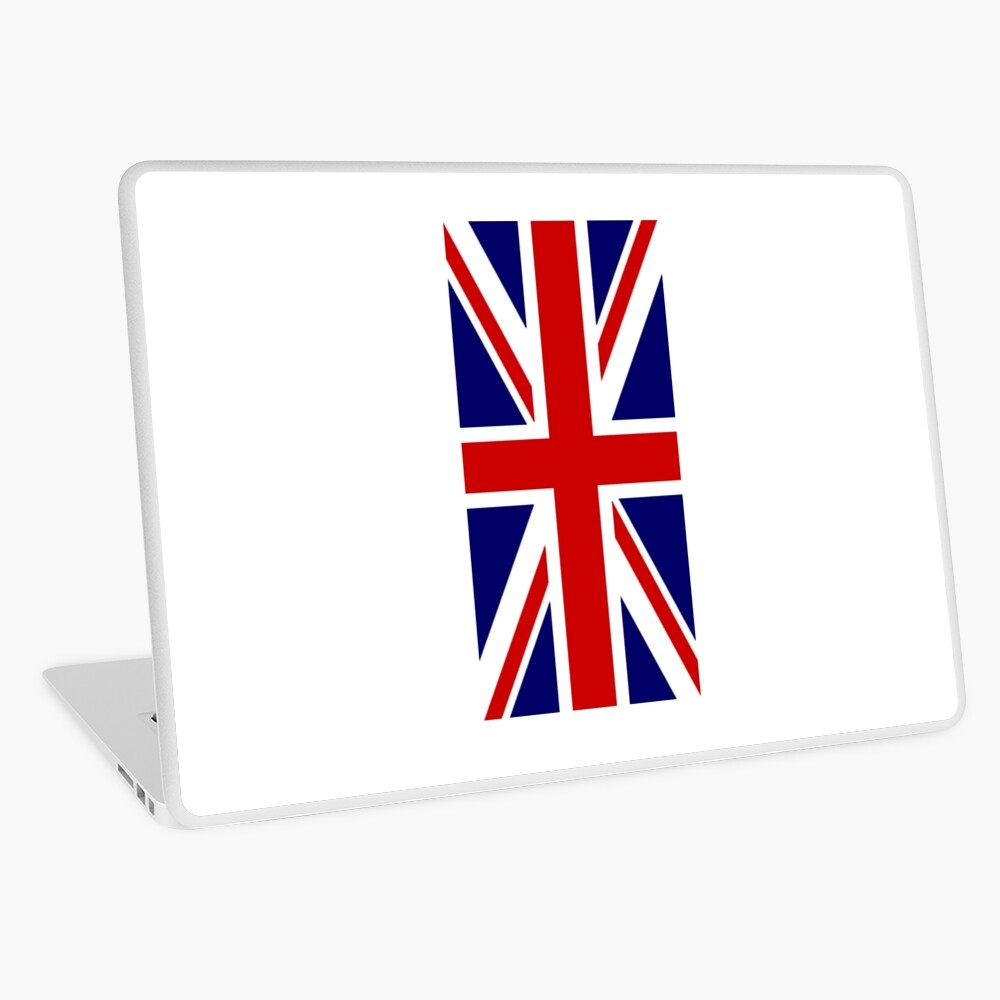 British, Union Jack, PORTRAIT, Flag, 1;2, UK, GB, United Kingdom, Pure & simple  Laptop Folie