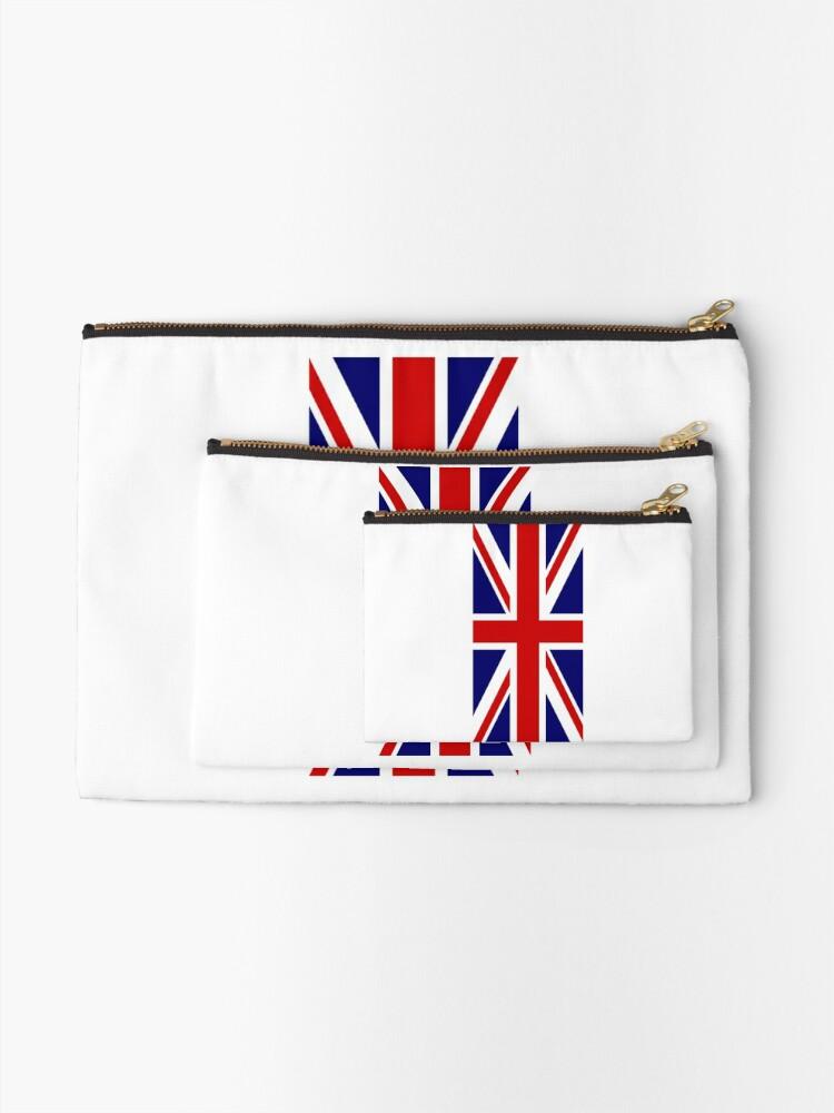 Alternative Ansicht von British, Union Jack, PORTRAIT, Flag, 1;2, UK, GB, United Kingdom, Pure & simple  Täschchen