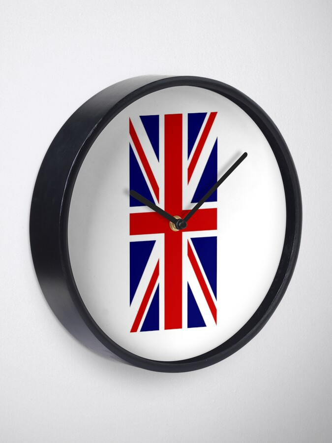 Alternative Ansicht von British, Union Jack, PORTRAIT, Flag, 1;2, UK, GB, United Kingdom, Pure & simple  Uhr
