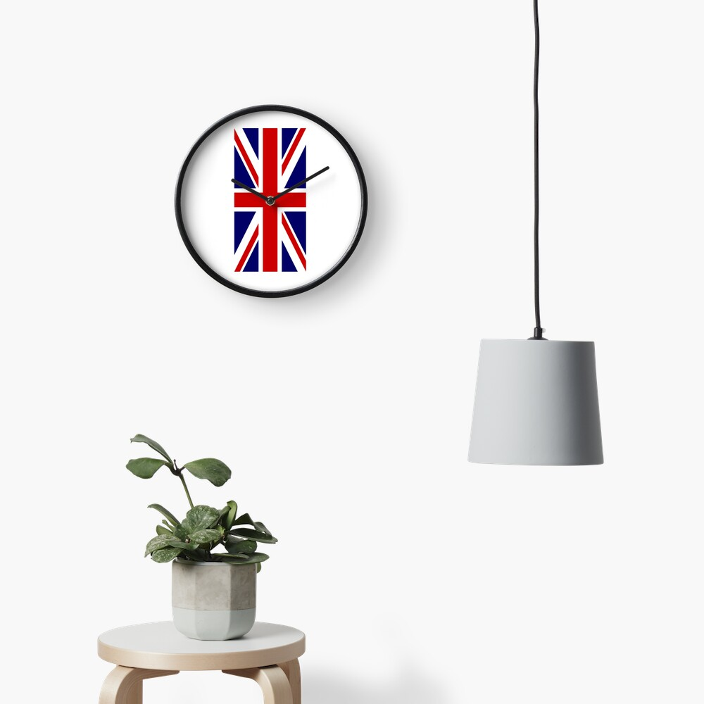 British, Union Jack, PORTRAIT, Flag, 1;2, UK, GB, United Kingdom, Pure & simple  Uhr