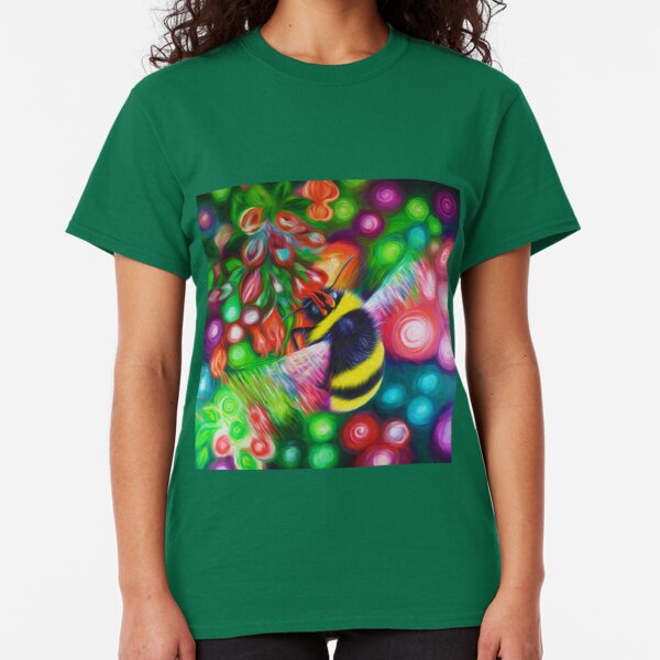 Bumblebee - Bee Wildlife and Colourful Flowers Classic T-Shirt
