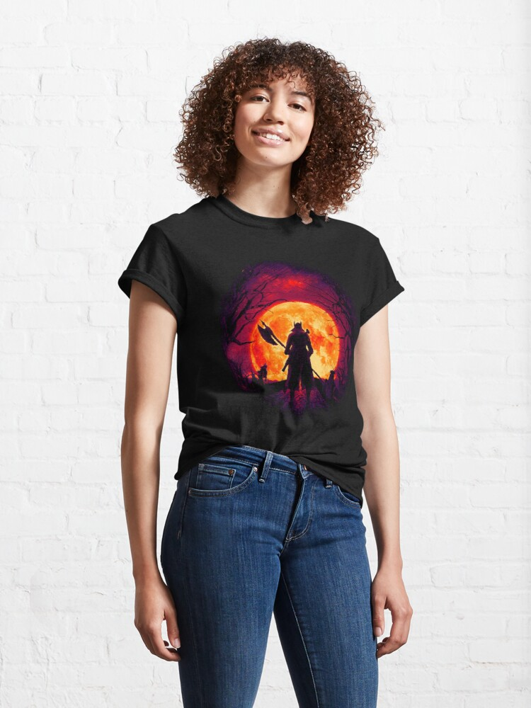 Alternate view of A Blood Moon's Night (Bloodborne) Classic T-Shirt