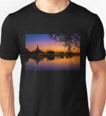 Myanmar. Mandalay. Royal Palace. Walls and Moat. Sunset. Unisex T-Shirt