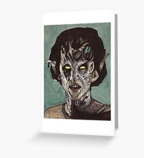 The Dark Age - Eyghon/Jenny - BtVS Greeting Card