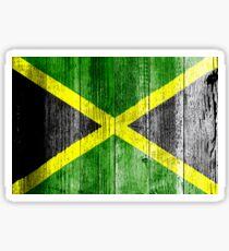 Jamaica Flag Grungy Distressed Board Sticker