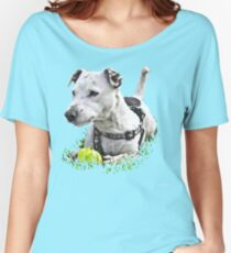 Jack : Jack Russel Terrier x Staffy Women's Relaxed Fit T-Shirt
