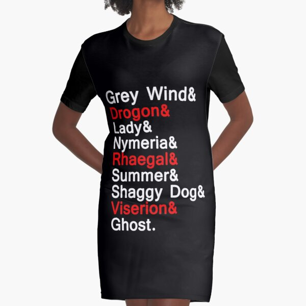 Direwolves & Dragons Graphic T-Shirt Dress
